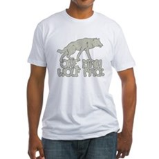 One Man Wolf Pack Fitted T-Shirt