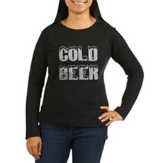 Cold Beer Womens Long Sleeve T-Shirt