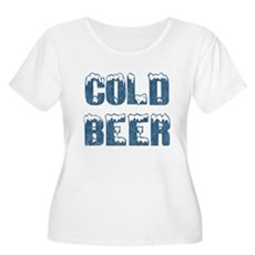 Cold Beer Plus Size Scoop Neck Shirt