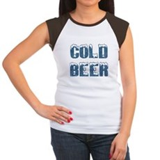Cold Beer Womens Cap Sleeve T-Shirt