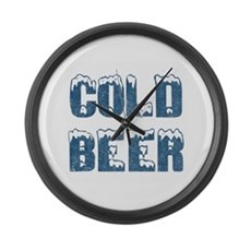 Cold Beer Large Wall Clock