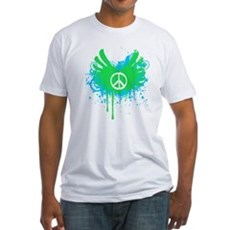 Peace and Love Fitted T-Shirt