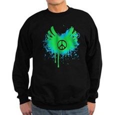 Peace and Love Dark Sweatshirt