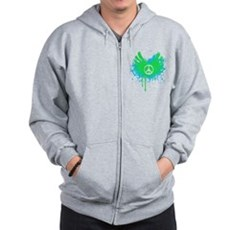 Peace and Love Zip Hoodie