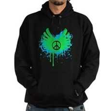 Peace and Love Dark Hoodie