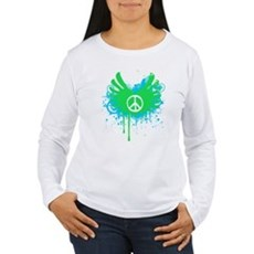 Peace and Love Womens Long Sleeve T-Shirt