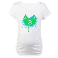 Peace and Love Maternity T-Shirt