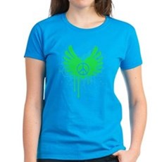 Peace and Love Womens T-Shirt