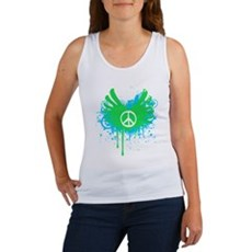 Peace and Love Womens Tank Top