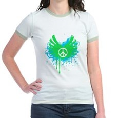Peace and Love Jr Ringer T-Shirt