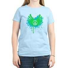 Peace and Love Womens Light T-Shirt