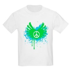 Peace and Love Kids Light T-Shirt