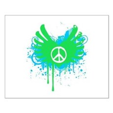 Peace and Love Small Poster