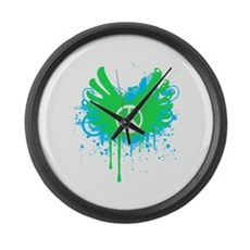 Peace and Love Large Wall Clock