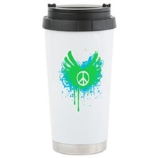 Peace and Love Stainless Steel Travel Mug