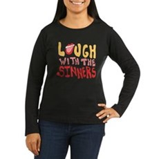 Laugh With The Sinners Womens Long Sleeve Dark T-