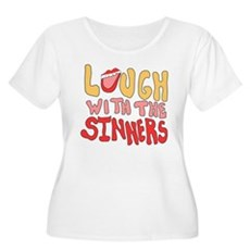 Laugh With The Sinners Womens Plus Size Scoop Nec