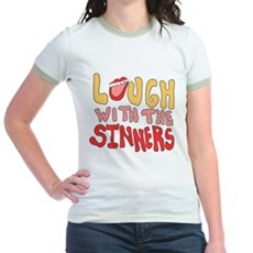 Laugh With The Sinners Jr Ringer T-Shirt