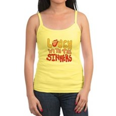 Laugh With The Sinners Jr Spaghetti Tank
