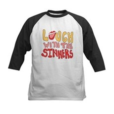 Laugh With The Sinners Kids Baseball Jersey