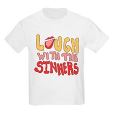 Laugh With The Sinners Kids Light T-Shirt