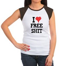 I Love Free Shit Womens Cap Sleeve T-Shirt