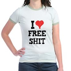 I Love Free Shit Jr Ringer T-Shirt