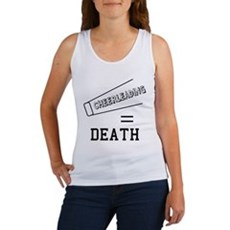 Cheerleading Equals Death Womens Tank Top