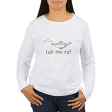 Rub One Out Womens Long Sleeve T-Shirt