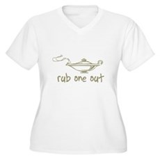 Rub One Out Plus Size V-Neck Shirt