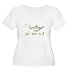 Rub One Out Plus Size Scoop Neck Shirt