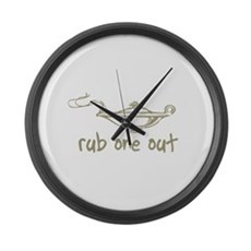 Rub One Out Large Wall Clock