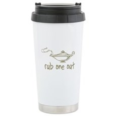 Rub One Out Stainless Steel Travel Mug
