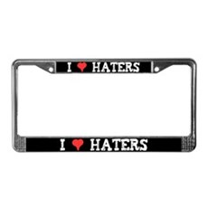 I Love Haters License Plate Frame