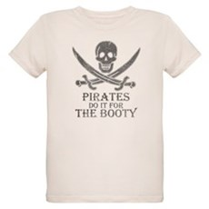 Pirates Do It For The Booty Organic Kids T-Shirt