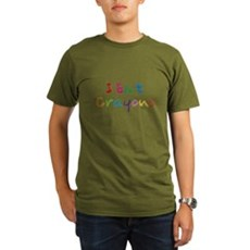 I Eat Crayons Organic Mens Dark T-Shirt