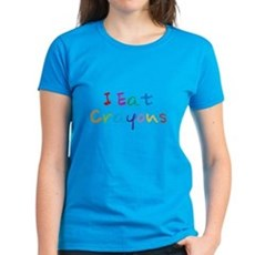 I Eat Crayons Womens T-Shirt