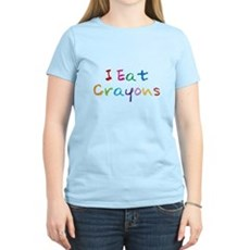 I Eat Crayons Womens Light T-Shirt
