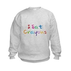 I Eat Crayons Kids Sweatshirt