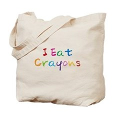 I Eat Crayons Tote Bag