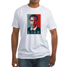 Obama Is A Liar Fitted T-Shirt