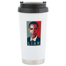 Obama Is A Liar Stainless Steel Travel Mug