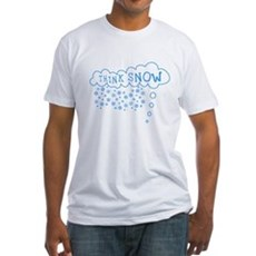 Think Snow Fitted T-Shirt