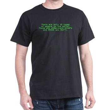 Binary (Black/Dark) | Gifts For A Geek | Geek T-Shirts