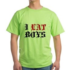 I Eat Boys Green T-Shirt