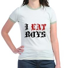 I Eat Boys Jr Ringer T-Shirt