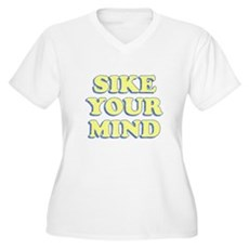 Sike Your Mind Plus Size V-Neck Shirt