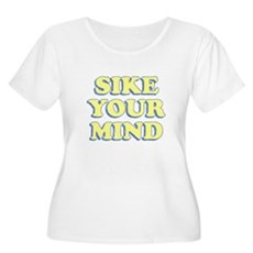 Sike Your Mind Womens Plus Size Scoop Neck T-Shir