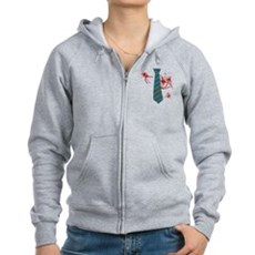 Zombie Hunter Womens Zip Hoodie