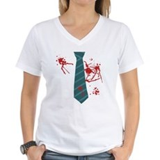 Zombie Hunter Womens V-Neck T-Shirt